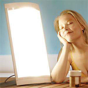 mise en situation lampe de luminothérapie