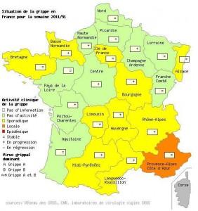 La grippe progresse sur le territoire Français